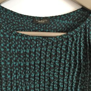Talbots Tops - Talbots Accordion Pleat Sleeveless Speckled Blouse